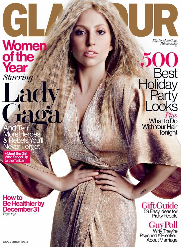 Lady Gaga graces the cover of Glamour's December issue.