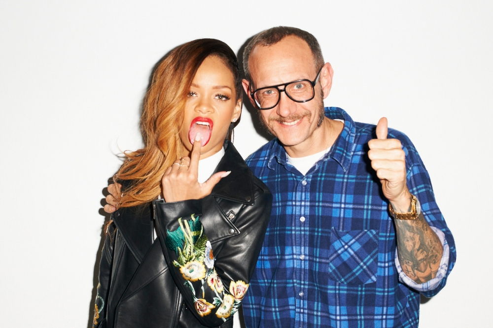 Photographer Terry Richardson with singer Rihanna